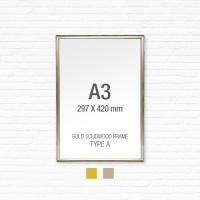 [골드원목프레임] 골드 액자 Type A - A3