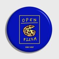 [어프어프] 손거울 Delicious pizza-blue