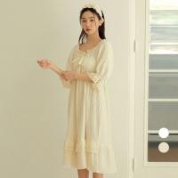 [쿠비카]바스트 셔링 볼륨 원피스 여성잠옷 W732