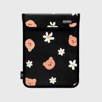 Dot flower merry-black(11인치 레더파우치)