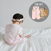 오가닉여름수면조끼세트(수면조끼+애착인형아기황호)