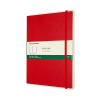 몰스킨 페이퍼 태블릿-플레인/스칼렛 레드 하드 XL