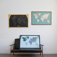 [무료배송] Pinning World Map (액자포함)