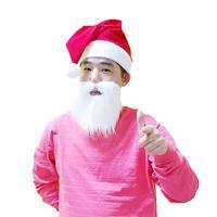 산타 수염 (화이트)