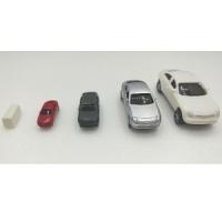 칼라 자동차모형-4종