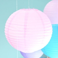 종이등 모빌장식 40CM [핑크]