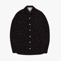 [오알오알] 플라워 패턴 셔츠 블랙 R1-002