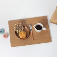 브라운 원목 식탁매트 플레이트