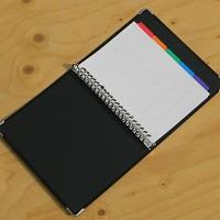 [KOKUYO] 금속링이 장착된 A5 합지 루스리프화일-일본 고쿠요 20공 바인더노트 Color Palette HB885