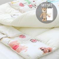 [CONY]오가닉유아애착인형침구세트(동물원+황호랑이인형)