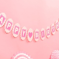 페이퍼 생일 클래식가랜드(핑크)