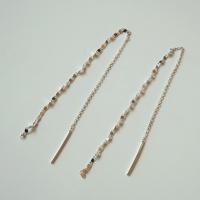 silver clip drop earring