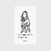 [어프어프] 보조배터리 Forget me-white