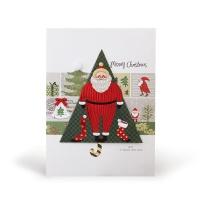 크리스마스카드/성탄절/트리/산타 그림속의 산타 (FS206-3)