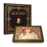 [무배]셜록 홈즈 컬러링북+아르누보 36색 색연필 틴