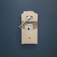 가죽 스마트폰 충전기 파우치 (PU코팅 소가죽)