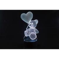 3D LED 무드등 곰돌이 (CBT940077)