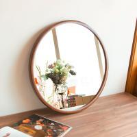 모니에 원목 원형 벽거울