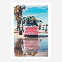 여름바다해변풍경포스터vol.1_SB02(레트로핑크밴)