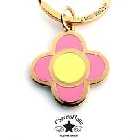 [참스홀릭]Pink clover charmset gold cks404