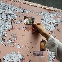 지구별 여행스케치 와이드 세계지도