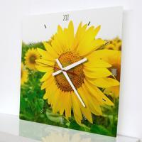 tm634-풍수재물의노란꽃_인테리어벽시계