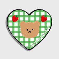 Dot strawberry check-green(하트톡)