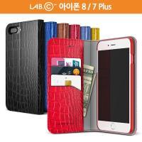 랩씨 아이폰 8 7 플러스 케이스 슬림 크로커다일 월렛