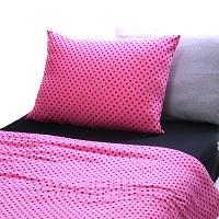 [정사이즈특가]순면저지침구-핑크도트 이불커버 퀸