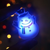 LED 플래시라이트 뱃지[눈사람]