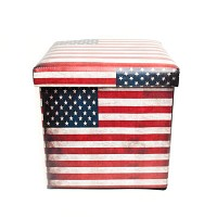 빈티지 뉴욕 수납박스 의자