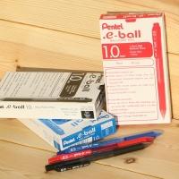 [Pentel] 1.5배의 필기거리..일본 펜텔 1.0mm 유성볼펜 e-ball 1다스 BK130