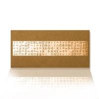가하 자음모음C 금펄 크라프트 가로형 우편봉투