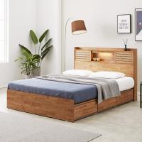 [노하우] 프레시 고무나무원목 LED 3서랍 침대 Q