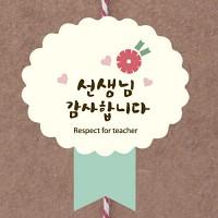 심플카네이션 선생님감사합니다 상장 라벨 (12개)