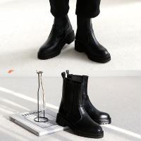 [애슬릿]발 편한 둥근코 여성 첼시 부츠 4cm