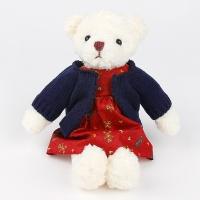 스웨터 테디베어 인형-네이비(35cm)