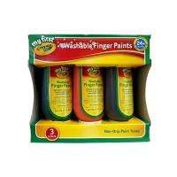 [크레욜라] 핑거페인트 150ml 3색(주황,녹색,보라) GY811430