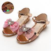 엑센트 에나멜 라이팅 샌들유아동 어린이 LED신발