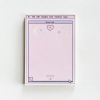 MPR 메모지 pink heart memo pad_ L
