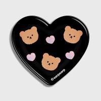 Dot love and bear-black(hearttoktok)