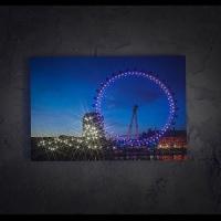 [LED 캔버스 조명액자] 런던아이의 야경