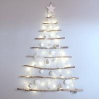 화이트 크리스마스 월트리(전구 포함)