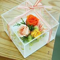 [시들지 않는 영원함 프리저브드 플라워] 큐브M_ORANGE(오렌지)