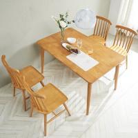 [노하우] 소이 고무나무원목 4인 식탁세트