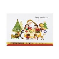 크리스마스카드/성탄절/트리/산타 행복한크리스마스(FS1018-4)