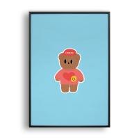 Cutie bear / 일러스트 액자