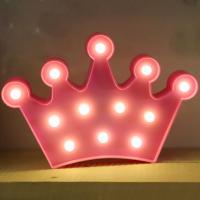 LED 앵두전구 조명등 (왕관 핑크)