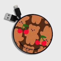 Dot cherry big bear-brown(스마트릴)