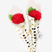 [인디고샵] 사랑해 레드 로즈 비누꽃한송이 (1set)